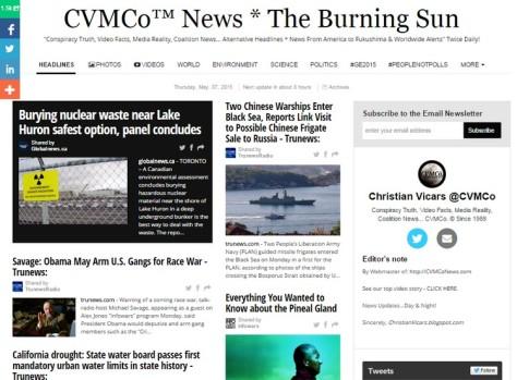 Alternative News Blog - Conspiracy Video Media Coalition
