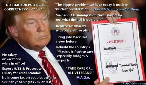 ! 1 Donald J Trump Promises